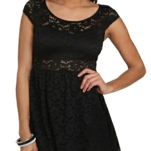 Wet Seal Black Lace Dress
